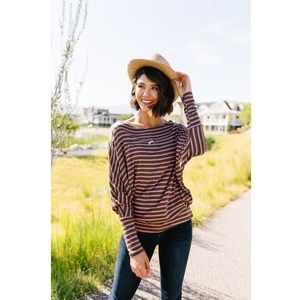Tops - New Stripes Of A Different Color Top Size M & L
